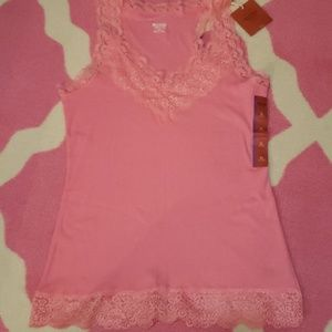 NWT Coral Lacey tank top